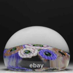 Baccarat Dupont millefiori circlets glass paperweight