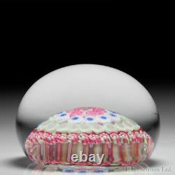 Baccarat Dupont open concentric millefiori glass art paperweight