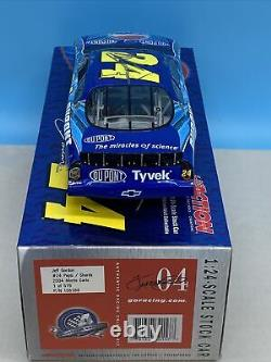 Jeff Gordon Autographed 2004 Pepsi DuPont Clear Window Bank 1/24 Diecast NASCAR