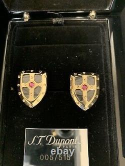 NEW St Dupont White Knight Palladiium Prestige Cufflinks Limited Edition 5 / 515