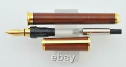 New S. T. Dupont Chairman Amber Montparnasse Fountain Pen Limited Edition 18k