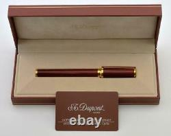 New S. T. Dupont Chairman Grenat Montparnasse Fountain Pen Limited Edition 18k
