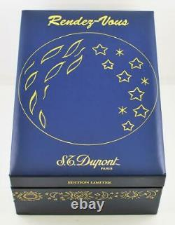New S. T. Dupont Rendez Vous Moon Montparnasse Fountain Pen Limited Edition 18k
