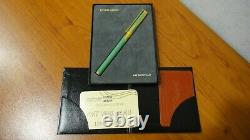 Rare Limited Edition S T Dupont Art Nouveau Fountain Pen Green Chinese Lacquer