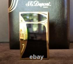 Rare Limited Edition S. T. Dupont Art Nouveau in Black Chinese Lacquer #1798/4000