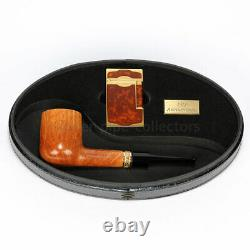 S. T. DUPONT CASTELLO 130th ANNIVERSARY LIMITED EDITION PIPE & LIGHTER NEW IN BOX