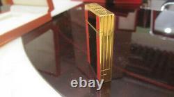 S. T. DUPONT Feuerzeug Linie 2 groß ART DECO Limited Edition Feiner Zustand