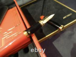 S. T. Dupont ART DECO Fountain Pen 1996 Limited Edition Lacquer Cased
