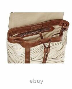 S. T Dupont Backpack Limited Edition Rey Leather and Fabric Backpack