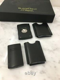 S. T. Dupont Blacklight Limited Edition lighter and cutter in box