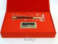 S. T. Dupont Defi Iron-man Limited Edition Ballpoint Pen In Burgundy & Gold -new