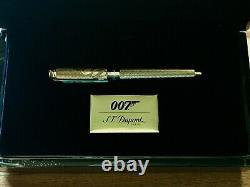 S. T. Dupont James Bond Limited Edition 007 Rollerball Pen, 412047, New In Box