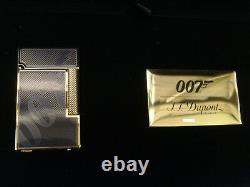 S. T. Dupont Limited Edition 007 Ligne 2 Lighter Black & Gold #1500/1962 (016169)