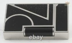 S. T Dupont Limited Edition 70th Anniversary Black Lacquer Ligne 2 Lighter Great