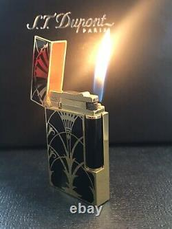 S. T. Dupont Limited Edition American Art Deco L2 Lighter Yellow Gold #0133/1930