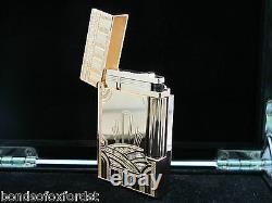 S. T. Dupont Limited Edition Art Deco Pink Gold Ligne 2 Lighter #0132/1930