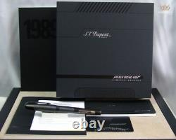 S. T Dupont Limited Edition James Bond Black Pvd Finish Fountain Pen Gorgeouse