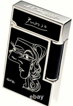 S. T. Dupont Limited Edition Picasso ST016105 Black Natural Lacquer Lighter