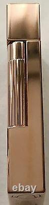 S. T. Dupont Limited Edition Travel In Time Ligne 2 Lighter, Pink Gold, 16982 NIB