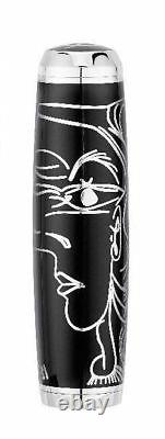S. T. Dupont Picasso Black Lacquer Fountain Pen, Limited Edition, 410046, NIB