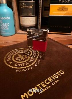 S. T. Dupont Red Urban Abstraction(s) Limited Edition Numbered Palladium Lighter
