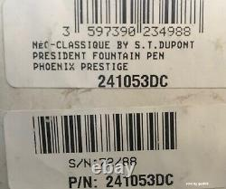 S. T. Dupont Tournaire Phoenix Fountain Pen, Limited Edition, 241053, New In Box