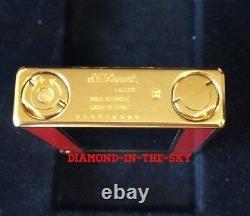 St Dupont Art Deco 1996 Ligne 2 Line 2 Limited Edition Lighter Black Red Lacquer