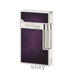 St Dupont Atelier Linge Line 2 Limited Edition Palladium Lighter Purple Lacquer