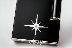 St Dupont Black Lacquer Solitaire Ligne Line 2 Limited Edition Diamond Lighter