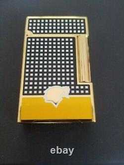 St Dupont Cohiba Limited Edition Linge Line 2 Lighter Black Yello Lacquer 016110