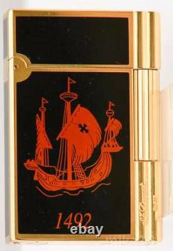 St. Dupont Colombus Gatsby Lighter Limited Edition Bnib, Hard To Find Never Fired