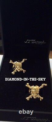 St Dupont Disney Pirates Of The Caribbean Limited Edition Cufflinks Gold 5101pc