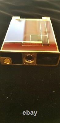 St Dupont Gold Dust Red Lacquer Table Jeroboam Limited Edition Lighter Rare