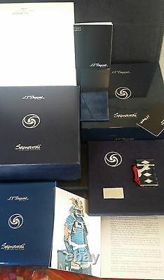 St Dupont Limited Edition Samurai Line 2 Ligne 2 Lighter Lacquer Platinum New