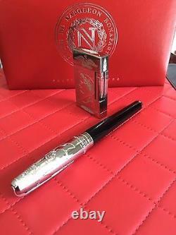 St Dupont Napoleon Linge 2 Line 2 Limited Edition Platinum Lighter And Pen Set