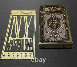 St Dupont Ny 5th Ave Ligne 2 Line 2 Limited Edition Gold Lighter Purple Lacquer