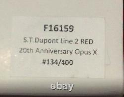 St Dupont Opus X Linge 2 Line 2 Limited Edition Gold Lighter Red Lacquer 2oth An