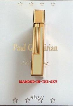 St Dupont Paul Garmirian Pg Line 2 Limited Edition Gold Lighter White Lacquer Re