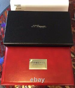 St Dupont Phoenix Renaissance Writing Kit F Pen Limited Edition Gold Red Lacquer