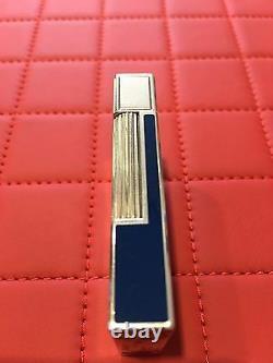 St Dupont Rendez-vous Moon Linge 2 Line 2 Limited Edition Silver Lighter Blue La