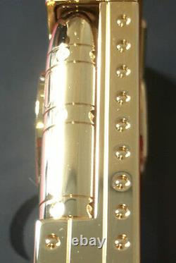 St Dupont Shoot The Moon Ligne Line 2 Limited Edition Gold Lighter Brown Lacquer