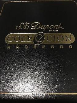 St Dupont Trinidad Linge Line 2 Limited Edition Gold Lighter Lacquer Habanera