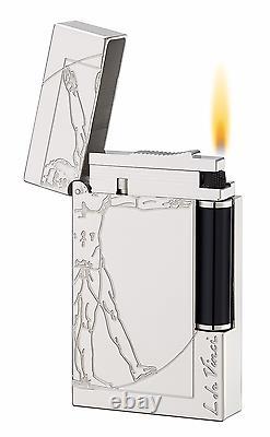 St Dupont Vitruvian Man Premium Limited Edition Lighter Line 2 Linge 2 Palladium