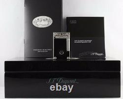 St Dupont Wild West Linge Line 2 Limited Edition Platinum Lighter Black Lacquer