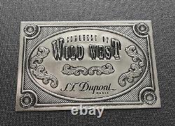 St Dupont Wild West Linge Line 2 Limited Edition Platinum Wood Lighter & Pouch