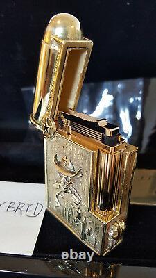 St Dupont X 2saints Skulls Cowboy Special Limited Edition Lighters Item #016074