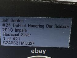 U5-4 Jeff Gordon #24 Dupont Honoring Our Soldiers / Flashcoat -2010 Chevy Impala