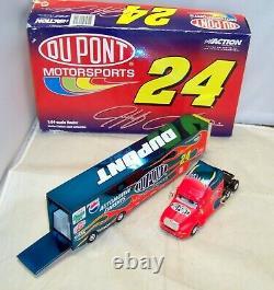 164 Action 2001 #24 Dupont Flames Hauler Truck Jeff Gordon Color Chrome 1/204