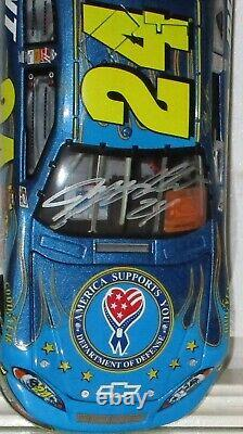 2007 Rcca Jeff Gordon #24 Dupont Dod Military Autographed Elite 1/24 Withhologram