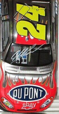 2008 Jeff Gordon #24 Dupont Autographe Métal Bruté Délais Gm 1/24 Avec Jsacoa
